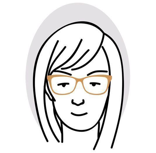 Ramlösa glasögon eller glasögon med runda bågar klär hjärtformat ansikte  mycket väl. 281f52c66ba8a